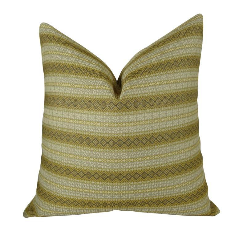 Plutus Full Stripe Handmade Throw Pillow