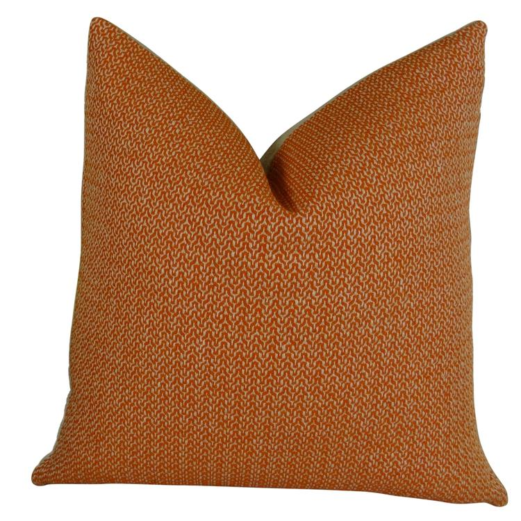 Plutus Lone Oak Cayenne Handmade Throw Pillow