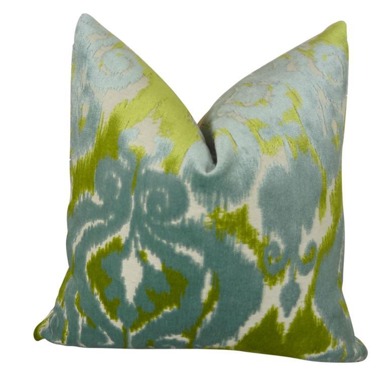 Plutus Velvet Bliss Water Handmade Throw Pillow