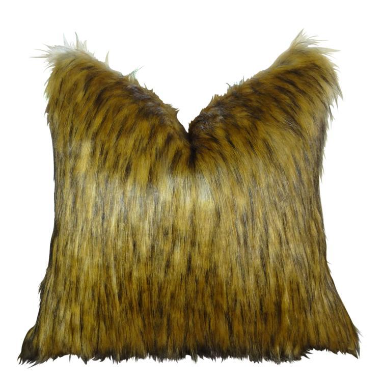 Plutus Golden Wolf Handmade Throw Pillow