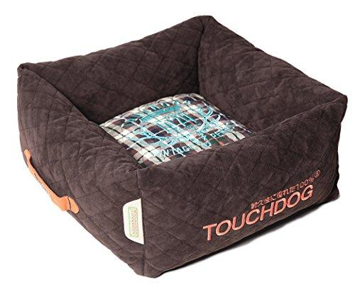 Touchdog Exquisite-Wuff Posh Rectangular Diamond Stitched Fleece Plaid Dog Bed