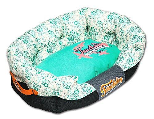 Touchdog Floral-Galore Ultra-Plush Rectangular Rounded Designer Dog Bed