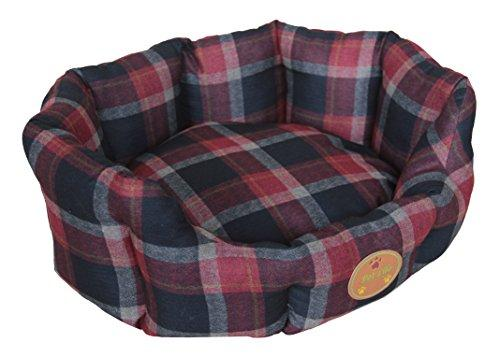 Wick-Away Nano-Silver and Anti-Bacterial Water Resistant Round Circular Dog Bed [Item # PB4RDLG]