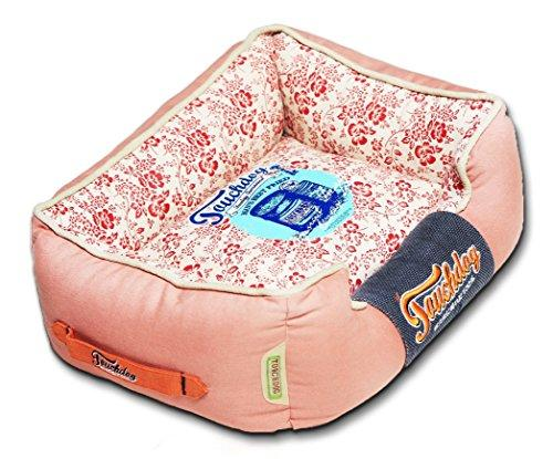 Touchdog Floral-Galore Vintage printed Ultra-Plush Rectangular Designer Dog Bed