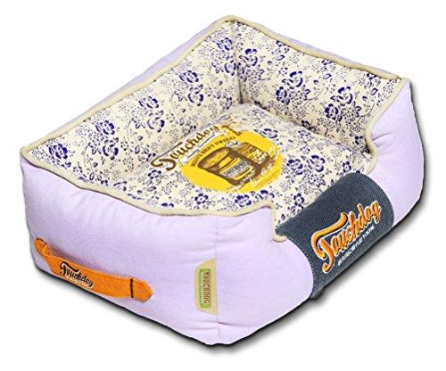 Touchdog Floral-Galore Vintage printed Ultra-Plush Rectangular Designer Dog Bed