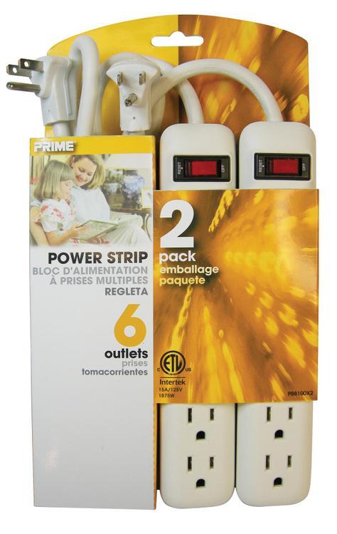 Pb8100X2 Power Strip 6Ot 2P W