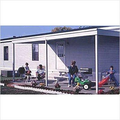 Arrow Sheds Attached Patio Cover/Carport, 10x10, Hot Dipped Galvanized Steel with Vinyl Coating, Eggshell Finish, Flat Roof [Item # PC1010A]