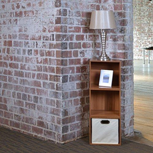 Niche Cubo Storage Set - 3 Cubes and 1 Canvas Bin- Warm Cherry/Natural