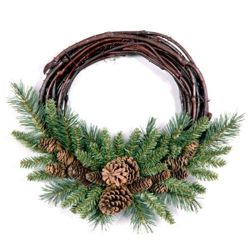 National Tree Pine Cone Grapevine Wreath