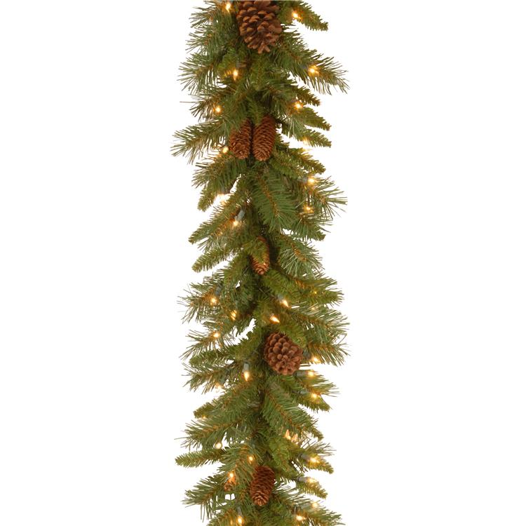 National Tree 9 ft Pine Cone Garland [Item # PC-9GLO-1]