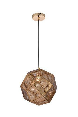 Elegant Furniture Kronos 1 Light Gold Pendant