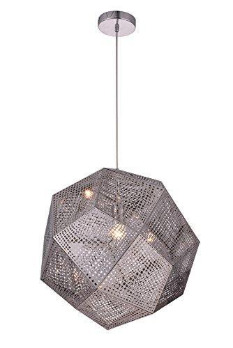 Elegant Furniture Kronos 1 Light Chrome Pendant