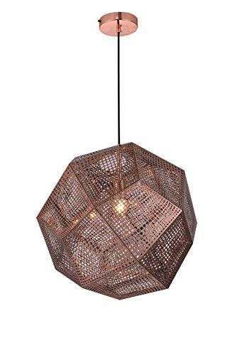 Elegant Furniture Kronos 1 Light Copper Pendant