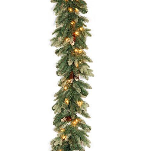 Copenhagen Spruce Garland with Clear Lights
