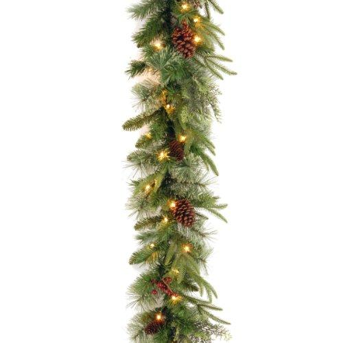 National Tree Colonial Garland with Clear Lights