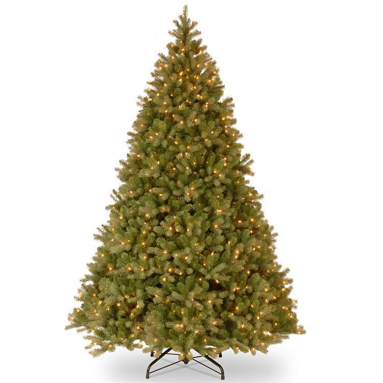 National Tree 6' Feel Real Downswept Douglas Fir Tree with 600 Clear Lights, Hinged