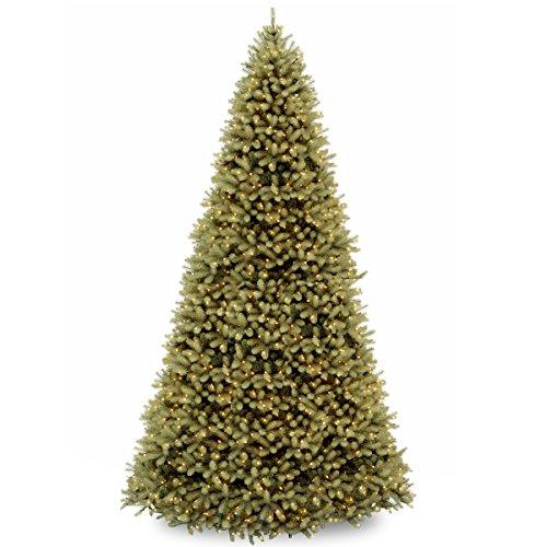 National Tree 12' Feel-Real Downswept Douglas Hinged Tree with 1500 Clear Lights