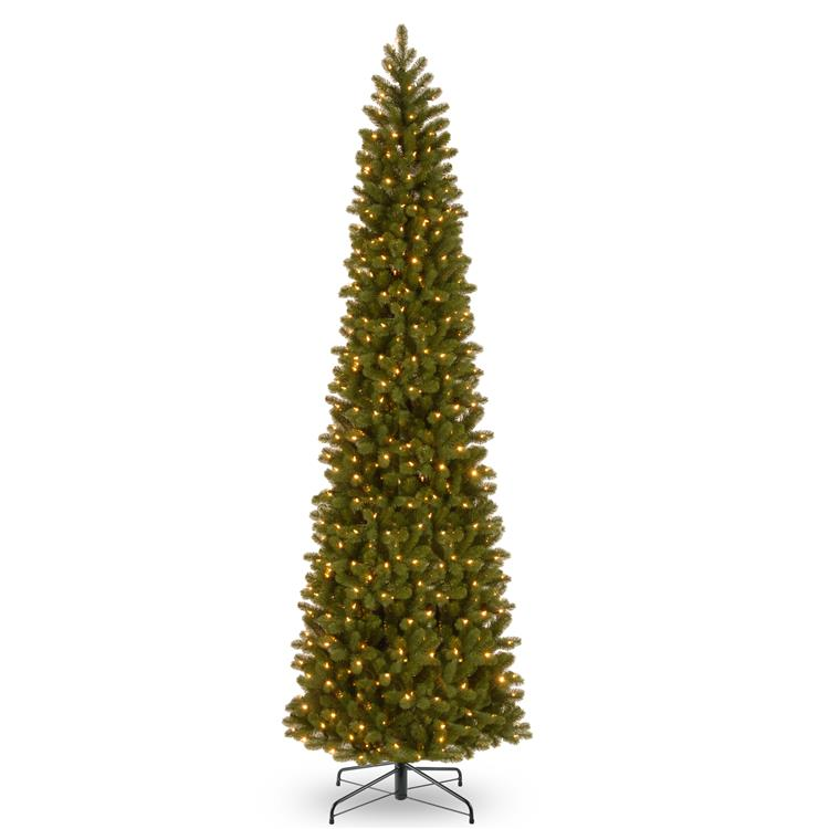 National Tree Downswept Douglas(R) Pencil Slim Fir Tree with Clear Lights [Item # PEDD4-392-120]