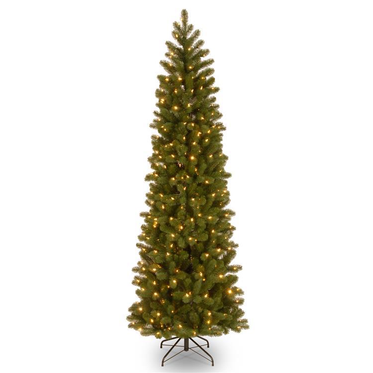 National Tree Downswept Douglas(R) Pencil Slim Fir Tree with Clear Lights [Item # PEDD4-392-65]