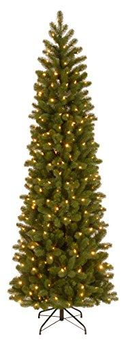 Downswept Douglas Pencil Slim Fir Tree with Dual Color LED Lights