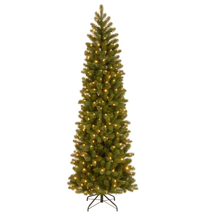 National Tree Downswept Douglas(R) Pencil Slim Fir Tree with Dual Color LED Lights [Item # PEDD4-392D-75]