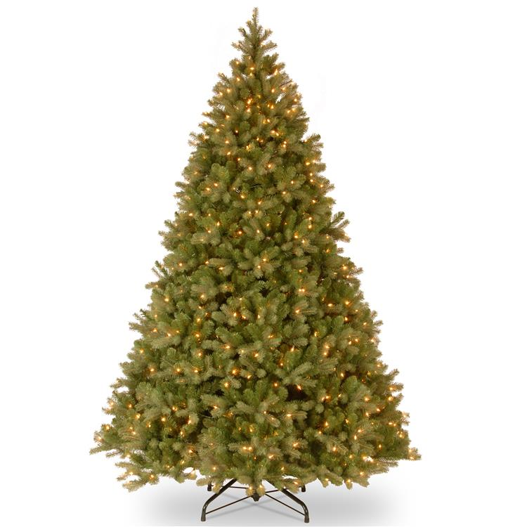 National Tree 9 ft PowerConnect(TM) Downswept Douglas(R) Fir Tree with Dual Color LED Lights