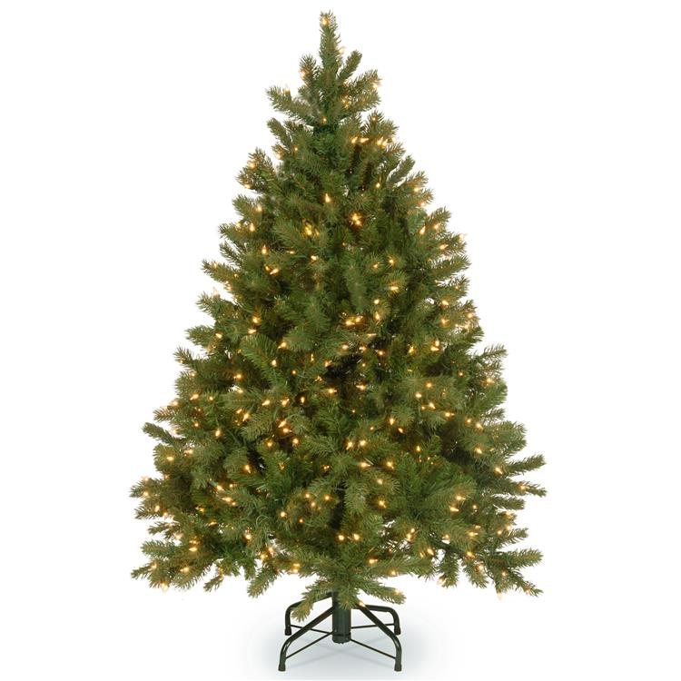 National Tree 4.5 ft Downswept Douglas(R) Fir Tree with Dual Color LED Lights [Item # PEDD8-339D-45]