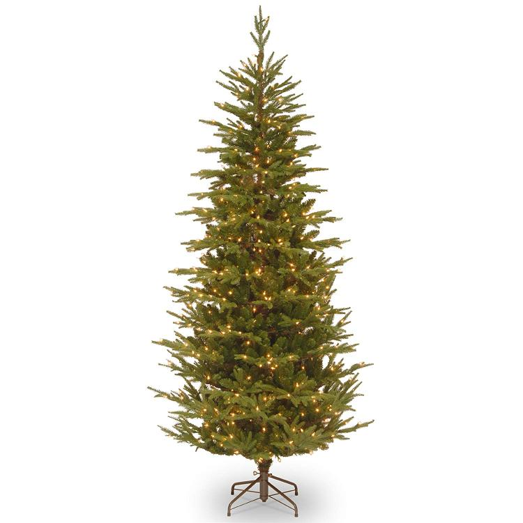 National Tree Frasier Grande Slim Tree with Clear Lights
