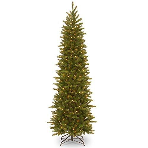 National Tree Grand Fir Pencil Slim Tree with Clear Lights [Item # PEGF4-334-75]