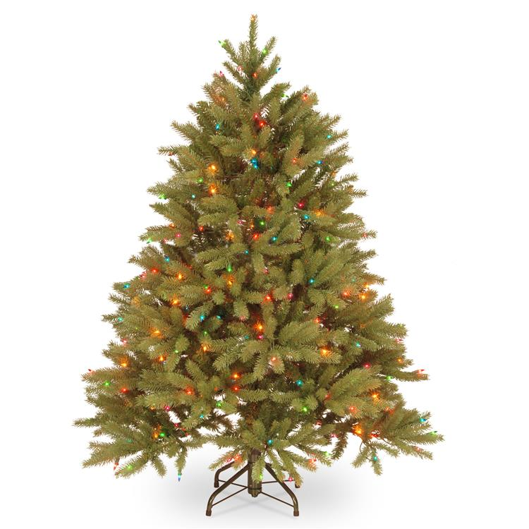 National Tree Jersey Fraser Fir Tree with Multicolor Lights [Item # PEJF1-301-45]
