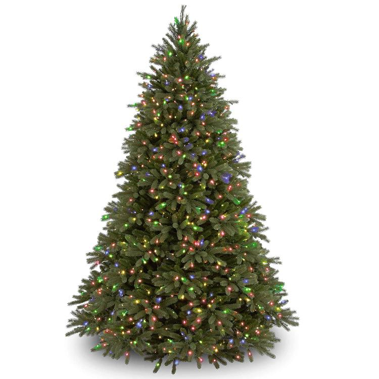 National Tree Feel-Real Jersey Fraser Fir Tree with 1250 Multicolor Lights - Hinged