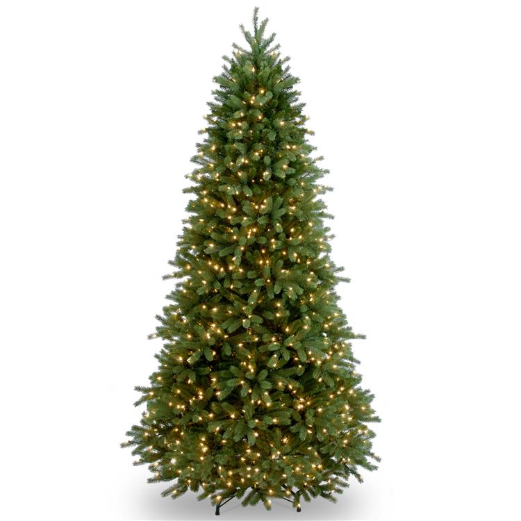 National Tree Jersey Fraser Fir Slim Tree with Clear Lights - [PEJF1-304-65]