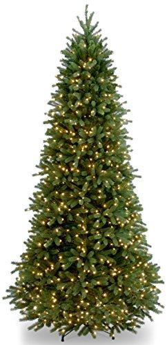 National Tree Jersey Fraser Fir Slim Tree with Clear Lights
