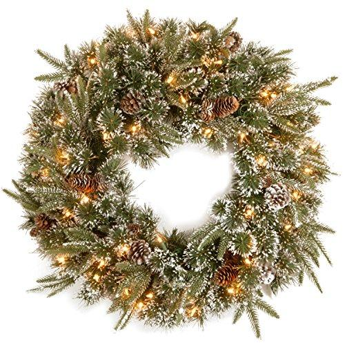 National Tree Liberty Pine Wreath with Clear Lights