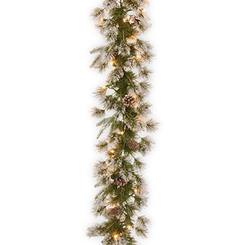 National Tree Liberty Pine Garland with Clear Lights