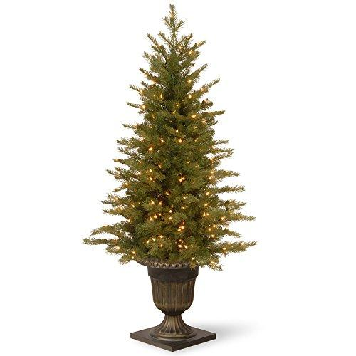 National Tree Nordic Spruce Entrance Tree with Clear Lights