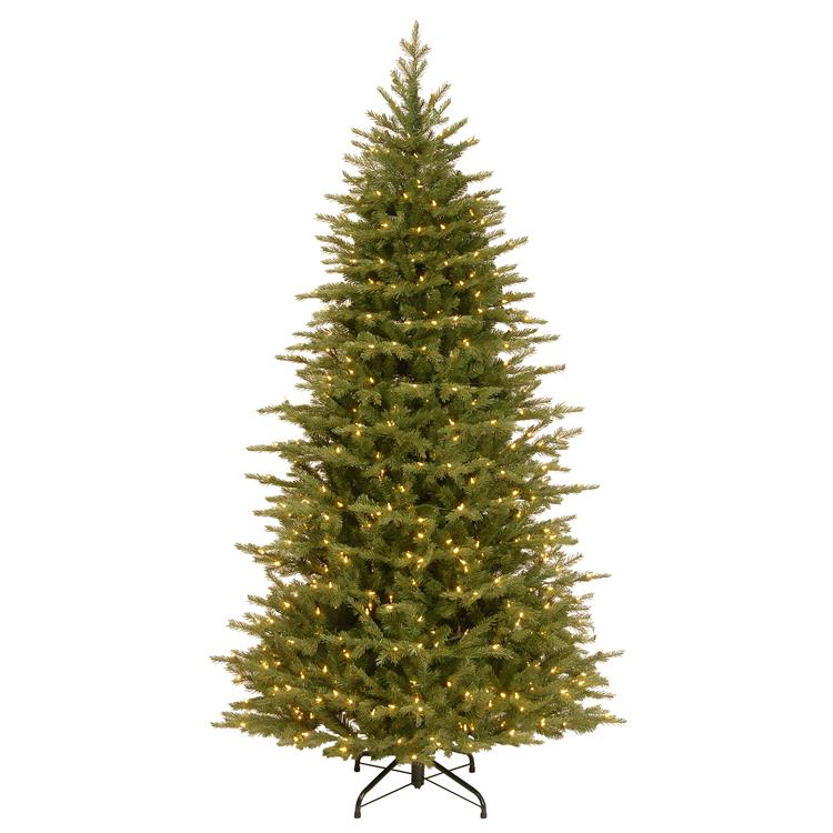 National Tree 7.5 ft. Nordic Spruce(R) Slim Tree with Clear Lights