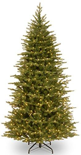 National Tree Nordic Spruce Slim Tree with Clear Lights