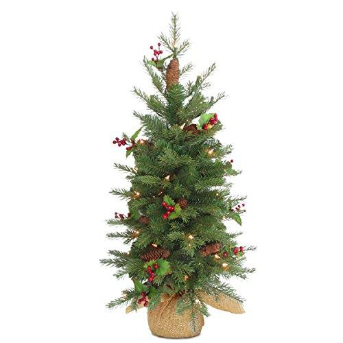 Nordic Spruce Tree with Battery Operated Warm White LED Lights