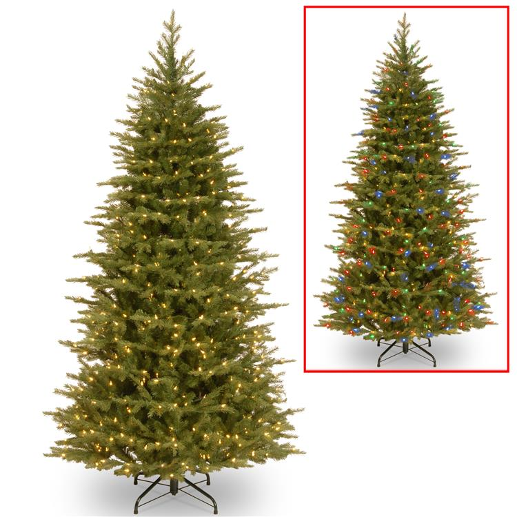 National Tree Nordic Spruce Slim Tree with Dual Color LED Lights