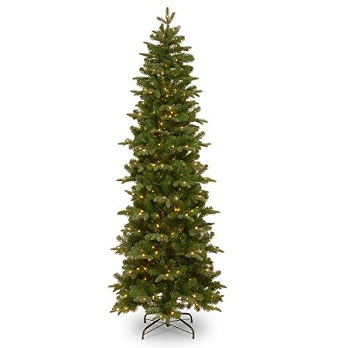 National Tree Prescott Pencil Slim Tree with Clear Lights