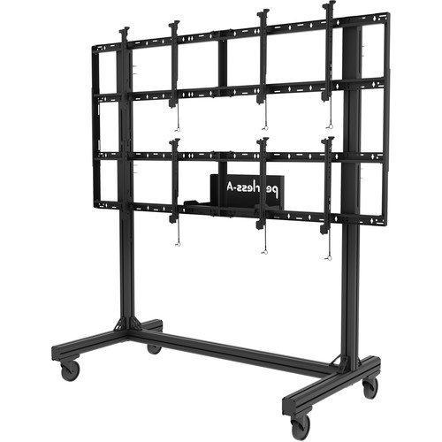 Peerless-AV Portable Video Wall Cart2x2 Configuration For 46