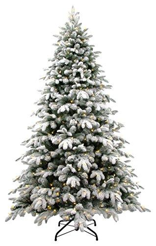 National Tree Snowy Avalanche Tree with Dual Color LED Lights