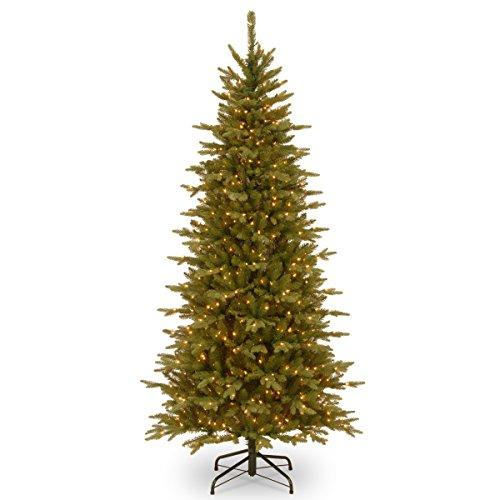 National Tree Sierra Spruce Slim Tree with Clear Lights