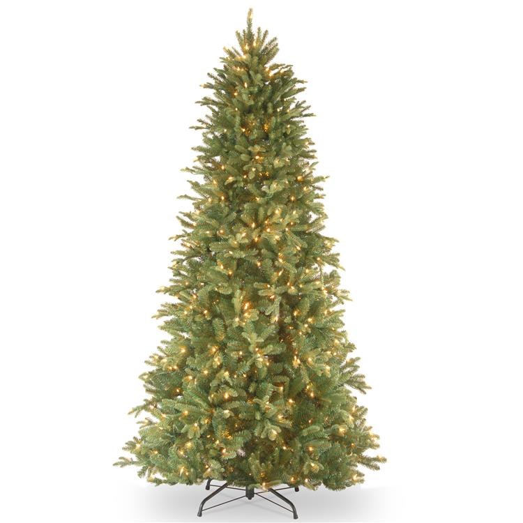 National Tree Tiffany Fir Slim Tree with Clear Lights [Item # PETF3-304-75]