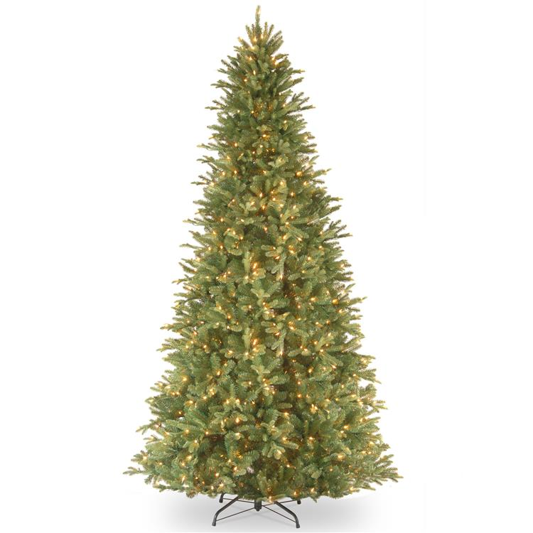 National Tree Tiffany Fir Slim Tree with Clear Lights - [PETF3-304-65]