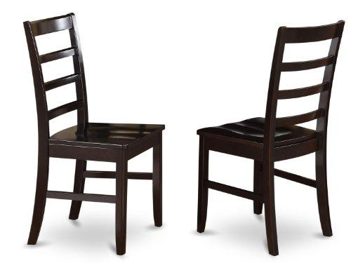 Parfait Chair with Wood Seat -  Saddle Brown Finish.
