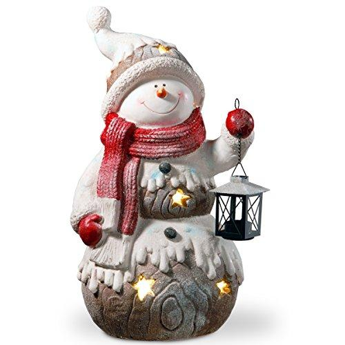 National Tree PG11-12045 21 in. Lighted Snowman Decor Piece