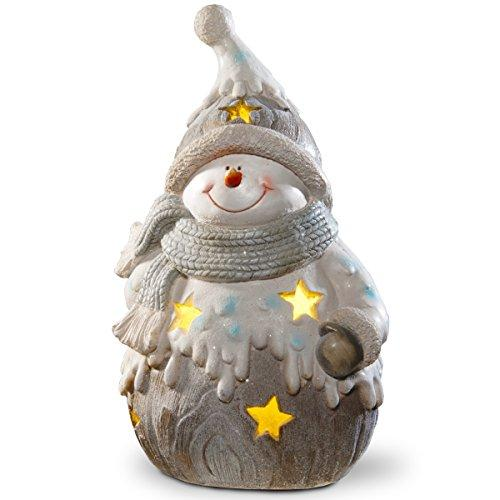 National Tree PG11-22009B17 in. Lighted Snowman Decor Piece