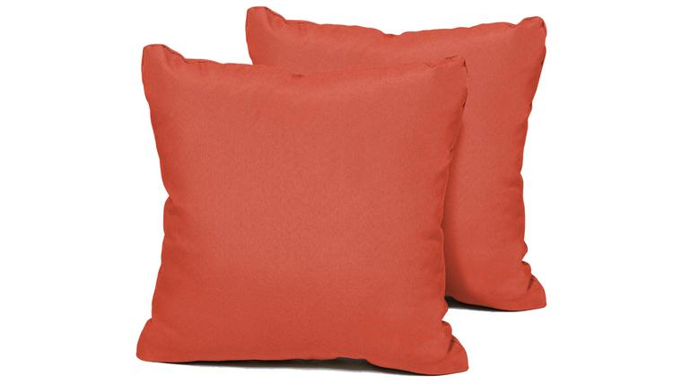 Tangerine Outdoor Throw Pillows Square Set of 2